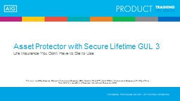 Asset Protector with Secure Lifetime GUL 3