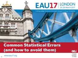 Common Statistical Errors