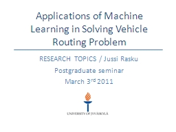 Applications of Machine