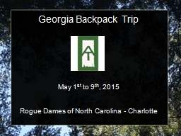 Georgia Backpack Trip