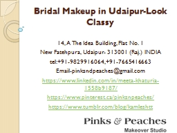 Bridal Makeup in Udaipur-Look Classy