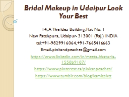 Bridal Makeup in Udaipur Look Your Best