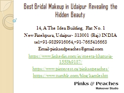 Best Bridal Makeup in Udaipur Revealing the Hidden Beauty