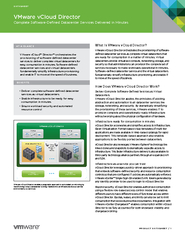 PRODUCT DATASHEET   AT A GLANCE VMware vCloud Director
