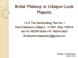 Bridal Makeup in Udaipur-Look Majestic