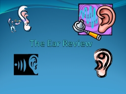 The Ear Review Part 1:  Parts of the Ear
