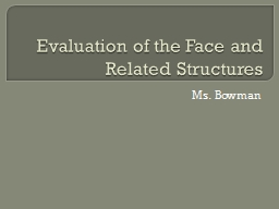 Evaluation of the Face and Related Structures