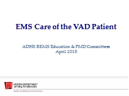 EMS Care of the VAD Patient