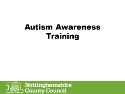 Autism Awareness Training