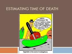 Estimating Time of Death