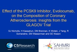 Effect of the PCSK9 Inhibitor,