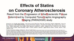 Effects of Statins on Coronary Atherosclerosis