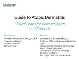 Guide to Atopic Dermatitis