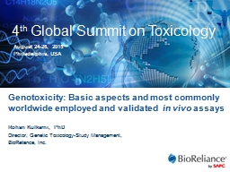 4 th  Global Summit on Toxicology