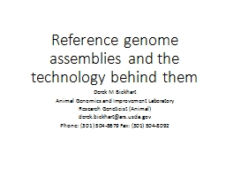 Reference genome assemblies and the technology behind them