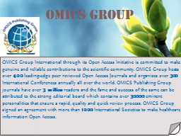 OMICS Group Contact us at: contact.omics@omicsonline.org