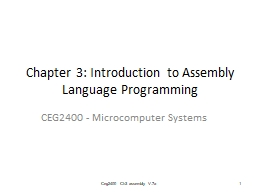 Chapter 3: Introduction to Assembly Language Programming