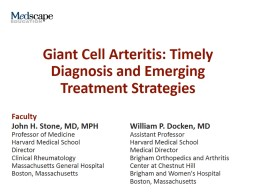 Giant Cell Arteritis: Timely Diagnosis and Emerging Treatment Strategies