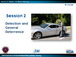 Session 2 Detection and