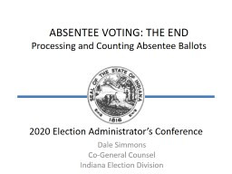 2020 Election Administrator's Conference