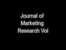 Journal of Marketing Research Vol