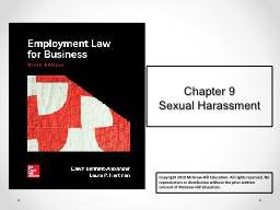 Chapter 9 Sexual Harassment