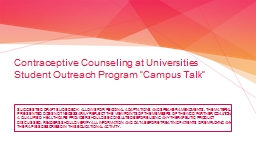Contraceptive Counseling at