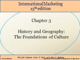Chapter 3 History and Geography: