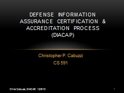 Christopher P. Cabuzzi CS 591