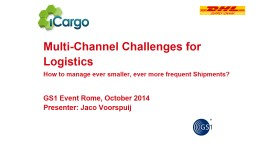 Multi-Channel Challenges for Logistics