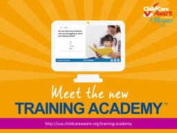 http://usa.childcareaware.org/training-academy