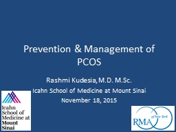 Prevention & Management of PCOS
