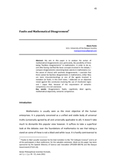 Faults and mathematical disagreement PowerPoint PPT Presentation