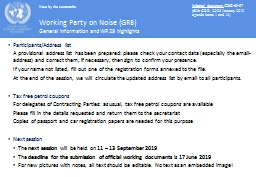 Working Party on Noise (GRB)