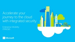 Accelerate your journey to the cloud with integrated identity