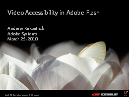 Video Accessibility  in