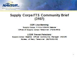 Supply  Corps FTS Community Brief