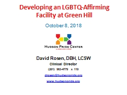 Developing an LGBTQ-Affirming         Facility at Green Hill