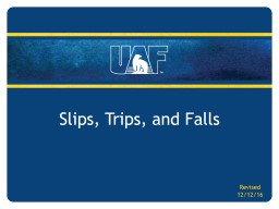 Slips, Trips, and Falls Revised
