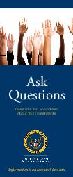 ASK QUESTIONS  Ask Questions Questions You Should Ask About Your Investments Information is an investors best tool  ASK QUESTIONS ASK QUESTIONS  Ask Questions Thats the best advice we can give you abo
