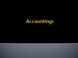 Accountings 1 Generally Purpose = Allow beneficiary to obtain information to see if trustee is brea