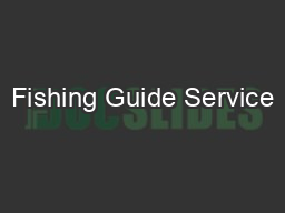 Fishing Guide Service