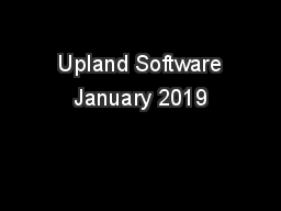 Upland Software January 2019