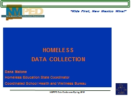 HOMELESS  DATA COLLECTION