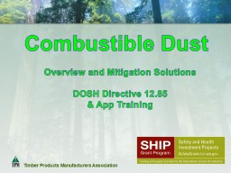 Combustible Dust  Overview and Mitigation Solutions