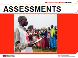 ASSESSMENTS PSYCHOSOCIAL INTERVENTIONS