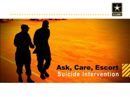 Check on Learning Q1: How do Army Values relate to early prevention and intervention?