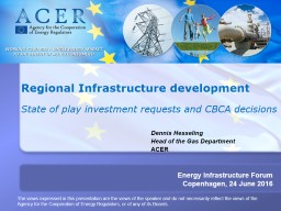 TITRE   Report on 2 nd  Energy Infrastructure Forum