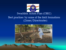 Swachhta  Action Plan (CBEC)