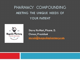 Pharmacy Compounding  Meeting